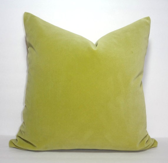 Beautiful Apple Green Velvet Decorative Pillow Cover Plush Etsy Mesmerizing Apple Green Decorative Pillows