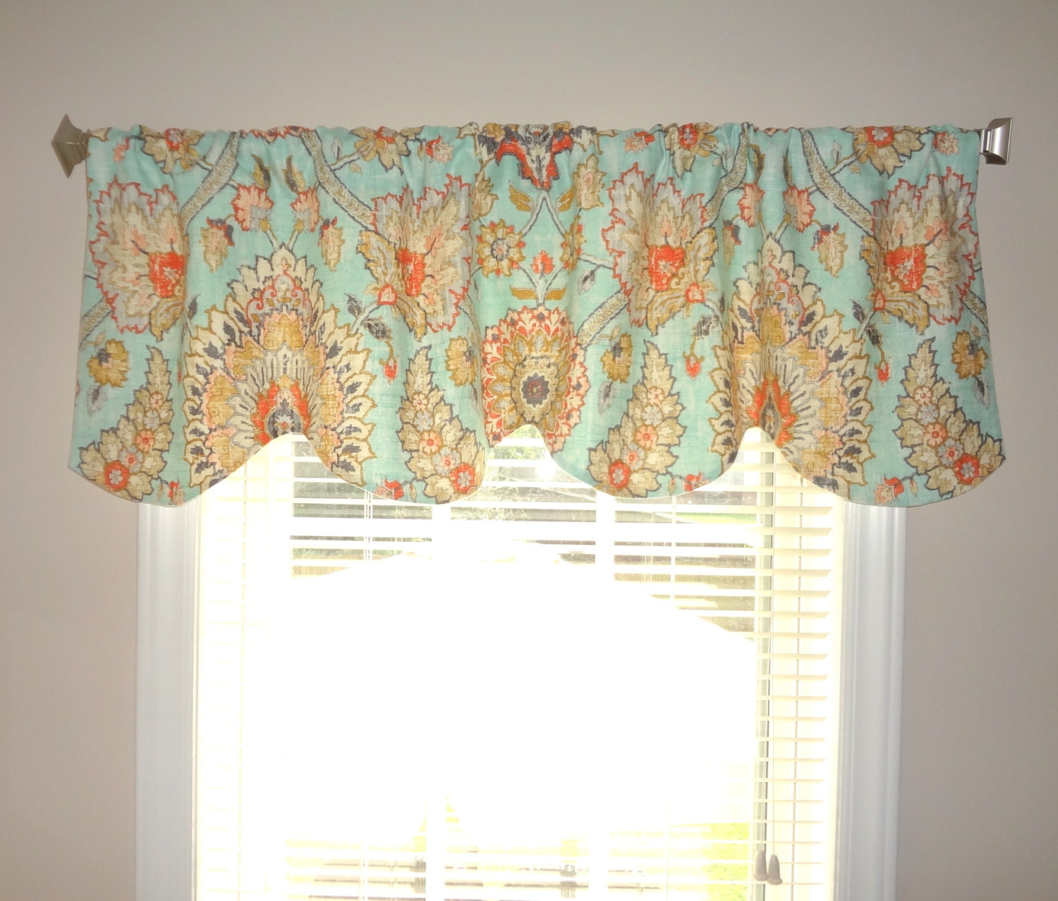 Waverly Scalloped Curtain Valance Topper Window Treatment