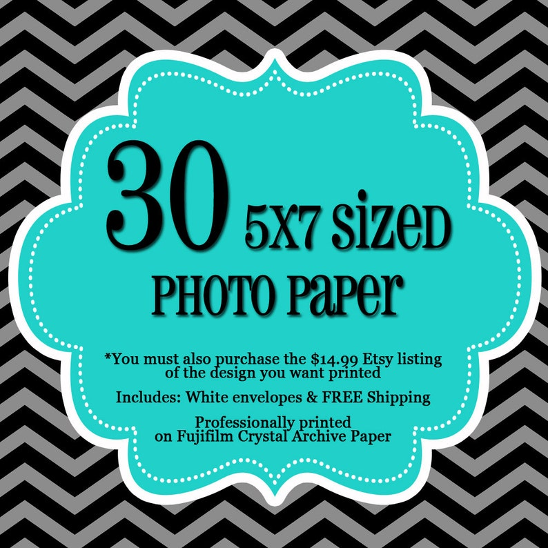 30 Professionally Printed 5x7's  1 sided Photo Cards  image 0
