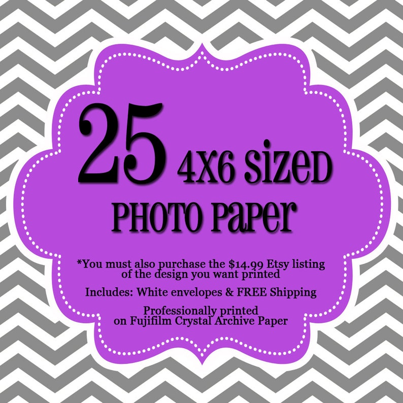 25 Professionally Printed 4x6's  1 sided Photo Cards  image 0