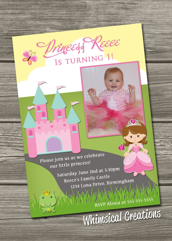 Princess Birthday Invitation Digital File image 0