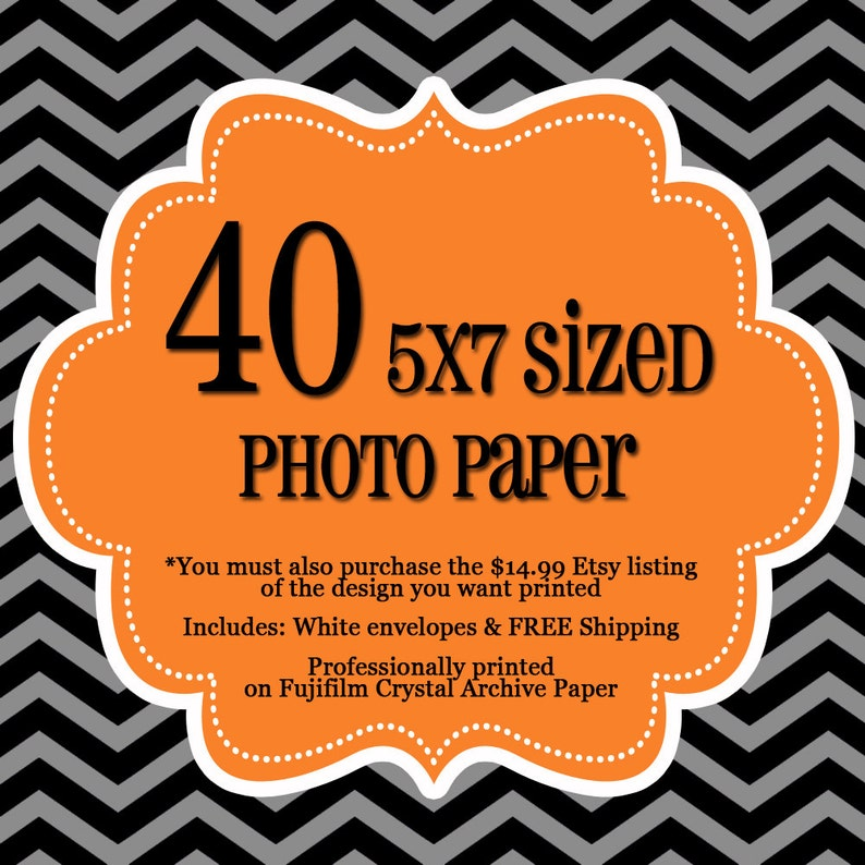 40 Professionally Printed 5x7's  1 sided Photo Cards  image 0