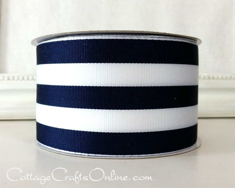 Wide Blue Ribbon Offray Mystic Blue Grosgrain Ribbon 3 inches wide x 3 yards