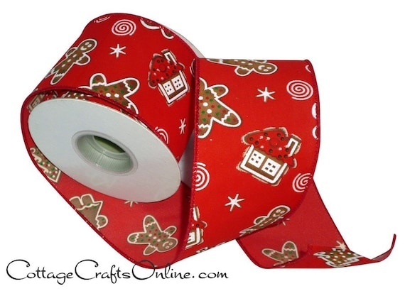 Candy Land Peppermint Wired Christmas Ribbon 10-Yard 2-1//2-Inch