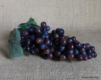 Artificial Grapes Dark Purple  Faux Fruit Grapes