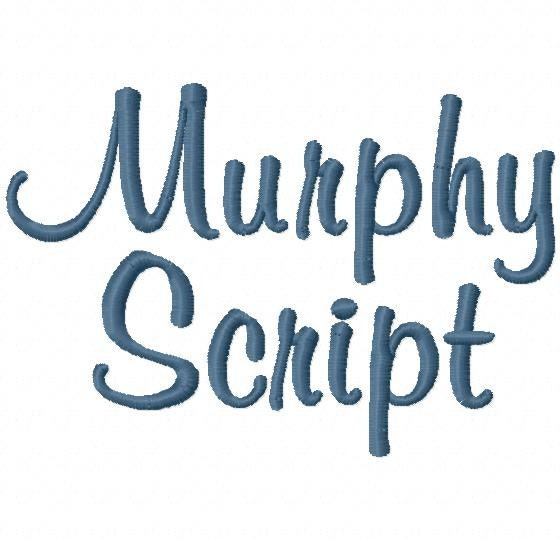 Murphy Script Machine Embroidery Font Sizes Etsy