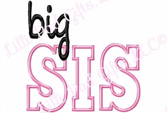 Big Sis Triple Bean Top Stitch Machine Embroidery Design Etsy
