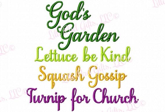 Gods Garden Lettuce be Kind Squash Gossip Turnip for Church | Etsy