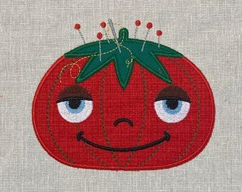 Happy Pincushion Machine Embroidery Applique Design