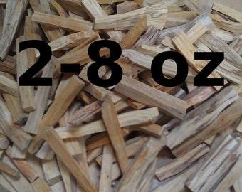 2-8 oz Palo Santo Sticks, Herbal Incense Wood, Palo Santo Holy Wood For Cleansing, Smudging, Burning, Tea, And Gifting, Bursera graveolens