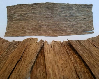Grade B Plantation Viet Agarwood, Sheets and Pieces, Oud Wood, 1mm Thick Aloeswood Veneer, Aquilaria crassna Sustainably Grown in Vietnam