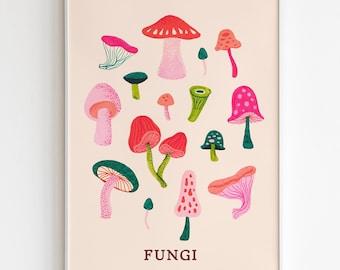 Fanciful Fungi -Art Print