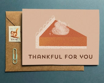 Thankful For You Card - Pumpkin Pie