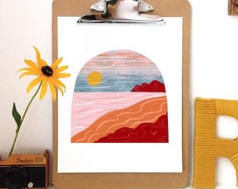 Sunset Coast -Art Print