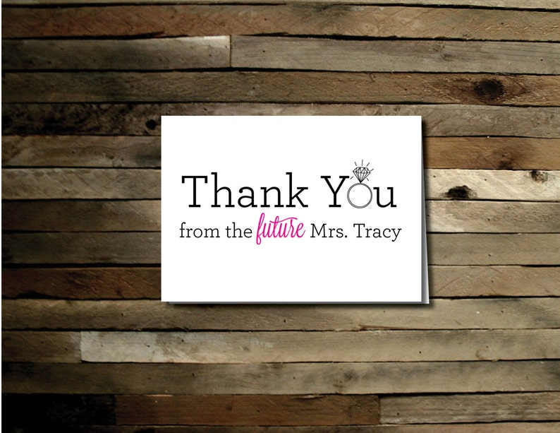 Future Mrs Thank You Card  Printable File. Notecard. Thank image 0