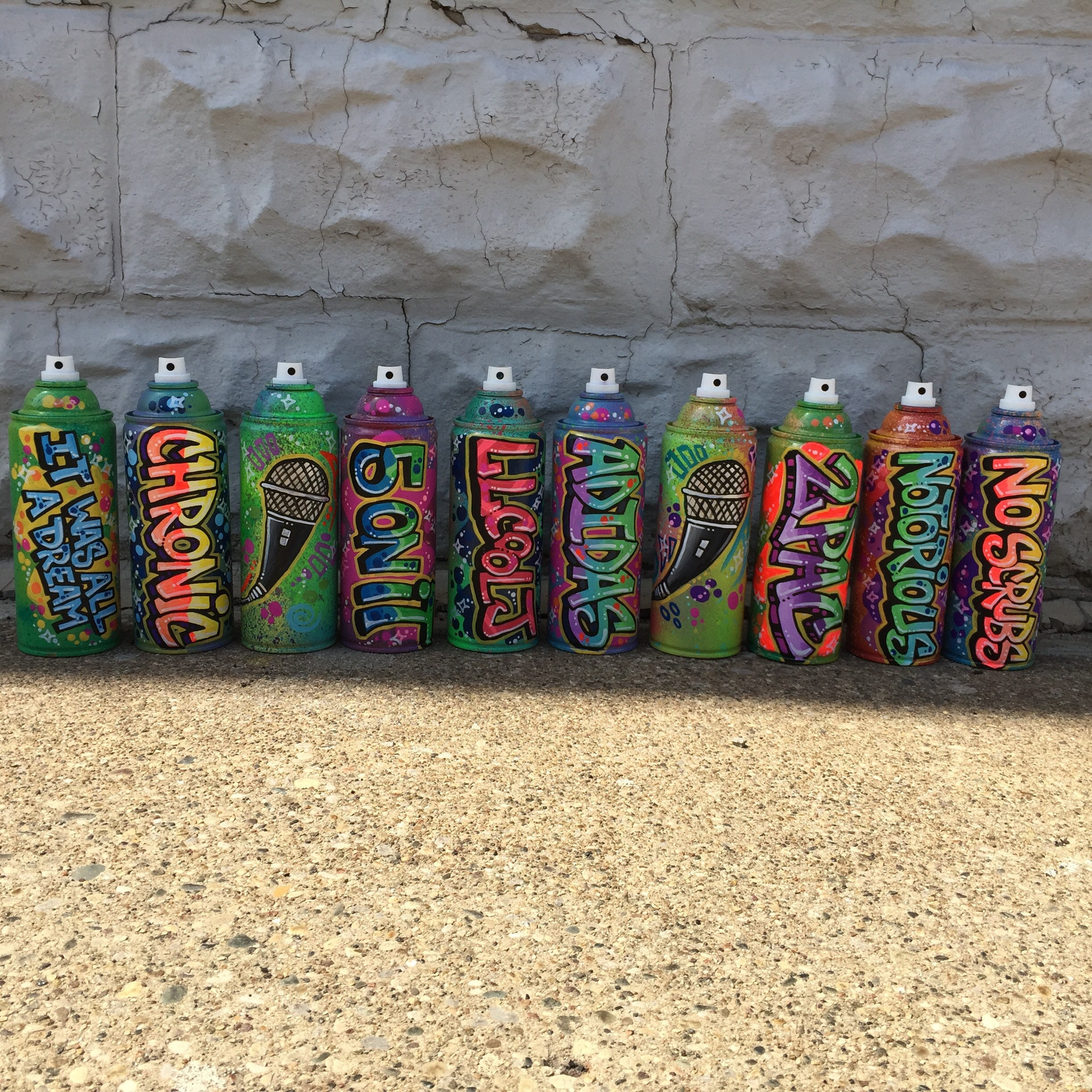 5 personalized graffiti spray paint cans at whole sale price | Etsy
