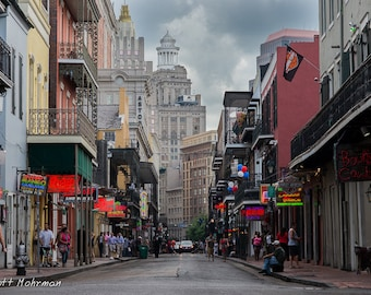 Bourbon Street, New Orleans, Louisiana, French Quarter, Architecture Photography