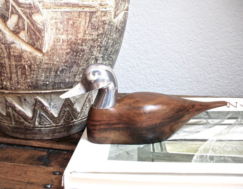 HAND CARVED IN 1980/'s DUCK DECOY