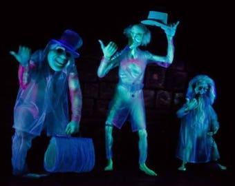 Haunted Mansion Hitchhiking Ghosts    Disneyland  Photo Decoupaged on Wood