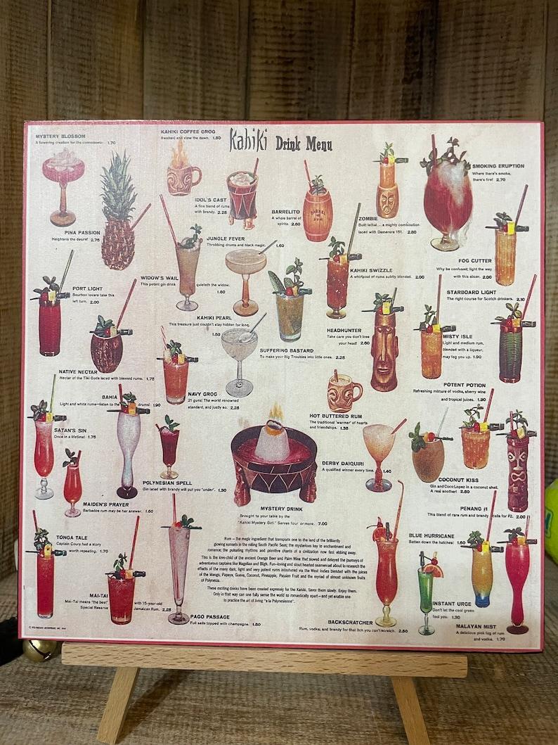 Vintage Kahiki Tiki Restaurant Drink Menu Art image 0