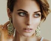 Super Lush Drop Earrings - Gold Riot - Laser Cut Glitter Drops - Each To Own
