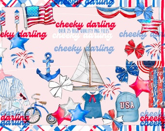 4th of July Sea to Shining Sea America Over 25  png USA Nautical Red, White and Blue for stickers, printed items and sublimation
