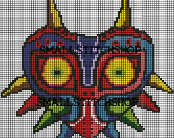 Majoras Mask PDF Cross Stitch Pattern Legend of Zelda