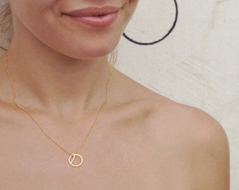 Fruit Necklace - apple, peach, orange, lemon, pear - minimalist golden charm on delicate gold-filled chain