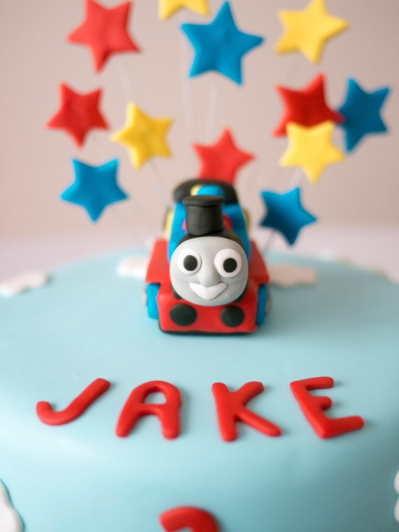 Phenomenal Edible Thomas The Train Birthday Cake Topper Etsy Funny Birthday Cards Online Fluifree Goldxyz