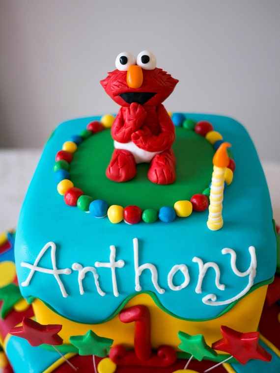 Edible Elmo Birthday Cake Topper