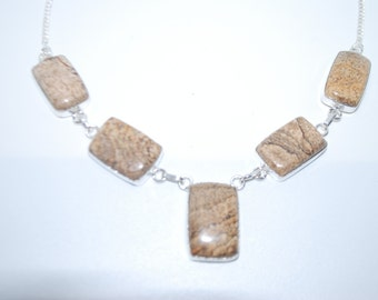 Picture Jasper gemstone necklace with healing properties