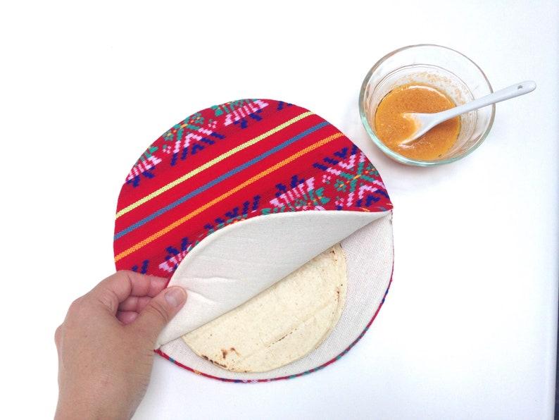Tortilla Warmer Tortillero  Tortilla Keeper Mexican Fabric image 0