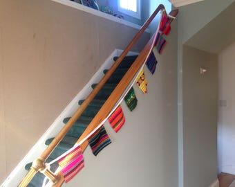 Mexican Fabric Banner, Bunting, Fiesta Party Decor, Wall Hanging, Nursery Ornament, Wedding Garland, Children Fiesta, Cinco de Mayo