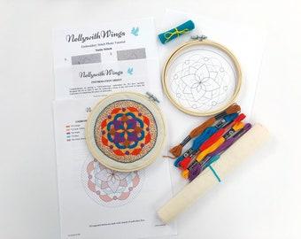 Hand Embroidery Sewing Kit - DIY Hoop Art - Floral EM001