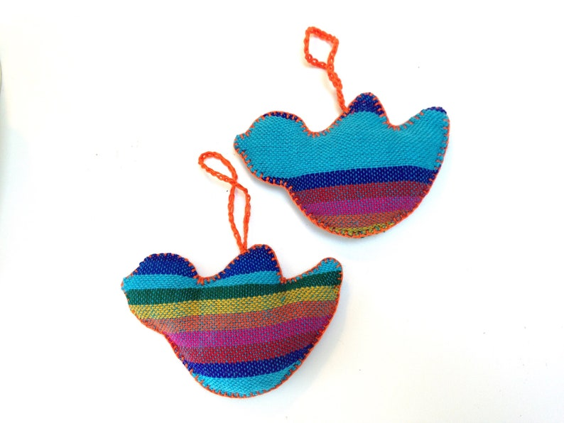 Bird Mexican Ornaments Christmas Tree  Blue Mexican wall image 0