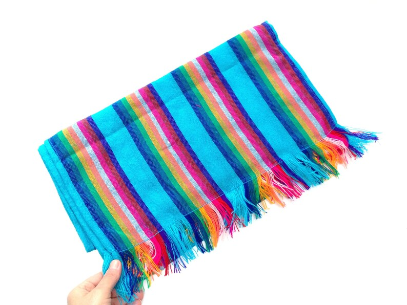 Mexican Table Runner Blue Aztec  Home Decor Indoor Outdoor image 0