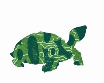 Turtle Totem - 8 x 10 Digital Artwork -Silhouette