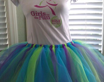 Mardis Gras (Teal, Purple & Green) Tutu