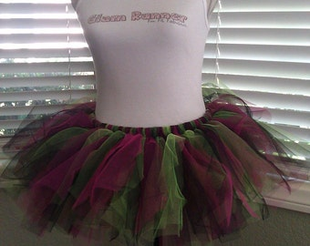 Miss Punk Rock (Pink, Green & Black) Tutu