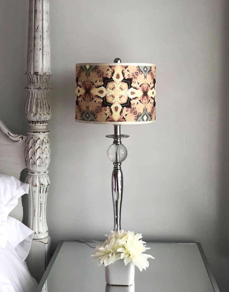 lamp shade for table lamps, drum light shade, bedroom light shade, unique  lamp shade, living room lighting, unusual light shade