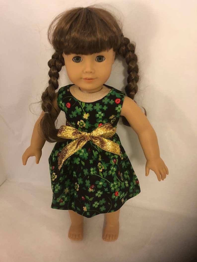 SALE Was 20 Now 15.0018 inch doll dress made of shamrocks and  ad991e7fb