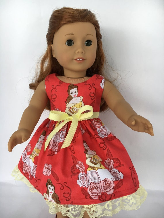 """Doll Clothes 18/"""" Dress Yellow Belle Rose Fits American Girl Dolls"""