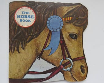 Vintage The Horse Book - 1968 A Golden Shape Book - Horses Pony - Graphics - Collectible - Childrens Book - Easy Reader - Home Schooling