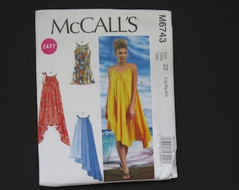 7cf5742e364 McCalls Pattern M6743 Caftan Swim Suit Cover Up Dress Size L to XXL