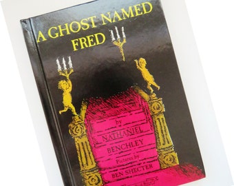 A Ghost Named Fred by Nathaniel Benchley - 1968 Halloween Book - An I Can Read Book - Easy Reading Childrens Book - Teacher Classroom - Gift