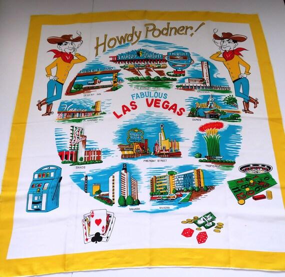 1950s Las Vegas Souvenir Scarf - Howdy Podner Icon