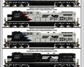 92ea5f08a06 NORFOLK SOUTHERN RAILROAD Tin Sign   Daniel Edwards Artist