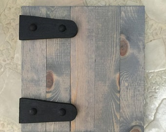 HINGED Look BARNWOOD BLANKS Wooden Hinges