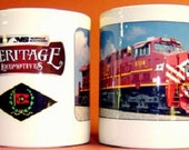 COFFEE MUG - Lehigh Valley Railroad with Heritage Logo Lottery Stuffer Candy Bars Door Prizes Gifts For Men Floral Arrangements
