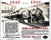 RAILROAD TIN SIGN - Lehigh Valley